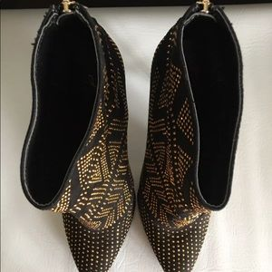Thalia Sodi Shoes - THALIA SODI HIGH HEEL BLACK/gold BOOTIE